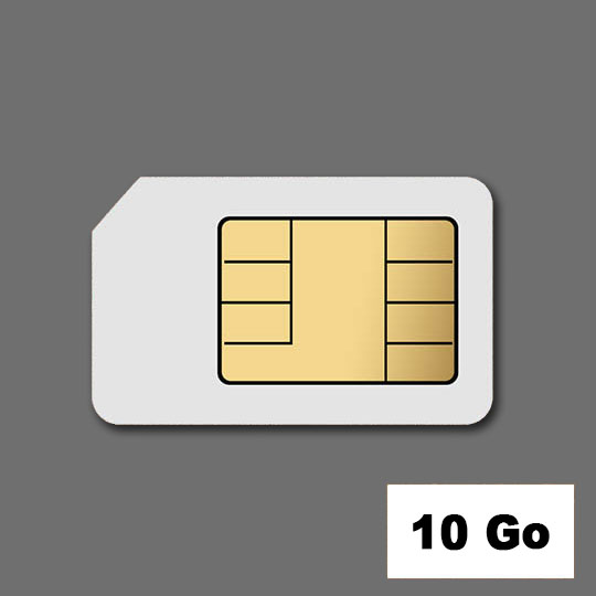 Location Cartes SIM DATA 10 Go
