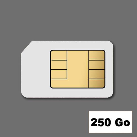 Location Cartes SIM 250 Go voix + forfait DATA