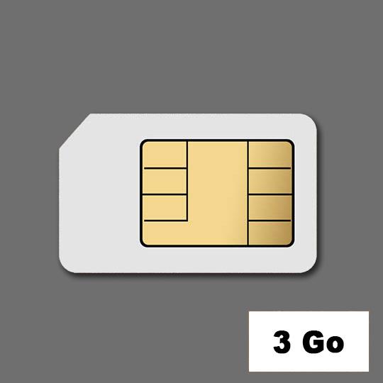 Location Cartes SIM DATA 3 Go