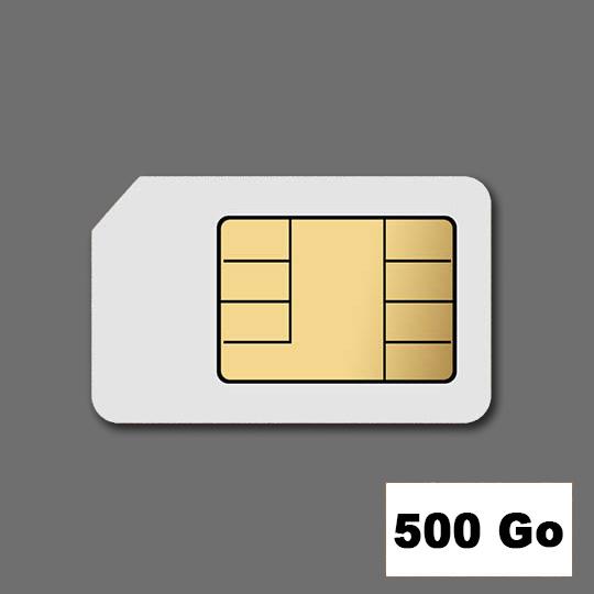 Location Cartes SIM 500 Go voix + forfait DATA
